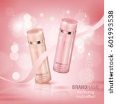 elegant cosmetic bottles... | Shutterstock .eps vector #601993538