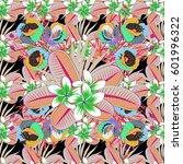 abstract vector background.... | Shutterstock .eps vector #601996322