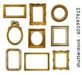set of gilded antique frames... | Shutterstock . vector #601997915