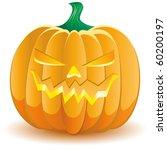 halloween pumpkin isolated on... | Shutterstock .eps vector #60200197