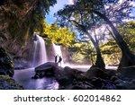 heo suwat waterfall in khao yai ... | Shutterstock . vector #602014862