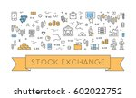 line web banner for stock... | Shutterstock .eps vector #602022752