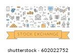 line web banner for stock... | Shutterstock .eps vector #602022752