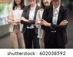 team of business woman... | Shutterstock . vector #602038592
