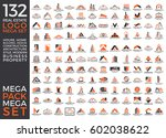 mega set and big group  real... | Shutterstock .eps vector #602038622