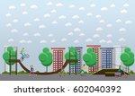 skate park concept vector... | Shutterstock .eps vector #602040392