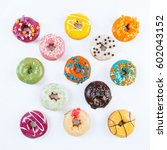 donuts | Shutterstock . vector #602043152