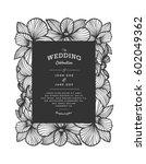 laser cut vector wedding... | Shutterstock .eps vector #602049362