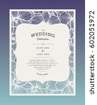 laser cut vector wedding... | Shutterstock .eps vector #602051972