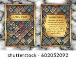 invitation card design template.... | Shutterstock .eps vector #602052092