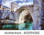 digital painting  oil on canvas ... | Shutterstock . vector #602054282