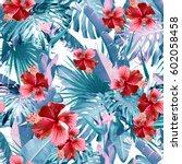 Tropical Leaves Pattern Green Leaf - Fine Art prints