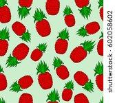 pattern of pineapple.  | Shutterstock .eps vector #602058602