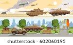 military equipment horizontal... | Shutterstock .eps vector #602060195
