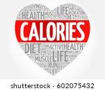 calories heart word cloud ... | Shutterstock . vector #602075432