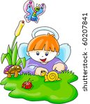cute angel | Shutterstock .eps vector #60207841