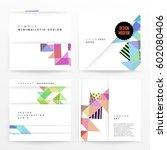 memphis geometric background... | Shutterstock .eps vector #602080406