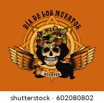 women's skull and flowers... | Shutterstock . vector #602080802