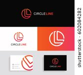 letter l logo icon circle sign... | Shutterstock .eps vector #602084282
