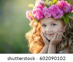 A Little Girl With Beautiful...