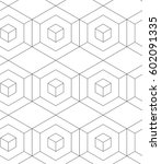 regular geometric. seamless... | Shutterstock .eps vector #602091335