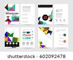 memphis geometric background... | Shutterstock .eps vector #602092478