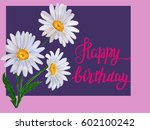 watercolor card with daisy...   Shutterstock . vector #602100242