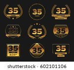 thirty five years anniversary... | Shutterstock .eps vector #602101106