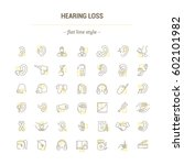 vector graphic set. icons in... | Shutterstock .eps vector #602101982