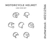 set line icons of motorcycle... | Shutterstock .eps vector #602112566