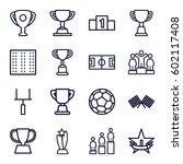 championship icons set. set of... | Shutterstock .eps vector #602117408