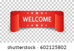 welcome ribbon vector icon.... | Shutterstock .eps vector #602125802