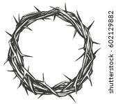 crown of thorns  easter ... | Shutterstock .eps vector #602129882