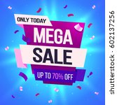 mega sale  this weekend special ... | Shutterstock .eps vector #602137256