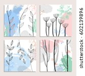 collection of abstract creative ... | Shutterstock .eps vector #602139896