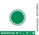 sun icon flat. simple green...