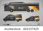 hi detailed transport mockup of ... | Shutterstock .eps vector #602157425