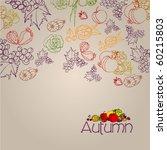 vector elegant autumn... | Shutterstock .eps vector #60215803
