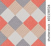 vector patchwork seamless... | Shutterstock .eps vector #602158526