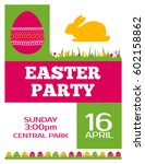 easter party invitation vector... | Shutterstock .eps vector #602158862