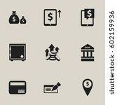 set of 9 editable finance icons....
