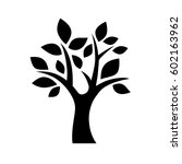 black vector simple decorative... | Shutterstock .eps vector #602163962
