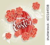 easter day greeting card ...   Shutterstock .eps vector #602164538