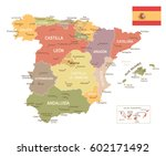 vector illustration of spain map | Shutterstock .eps vector #602171492