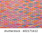colorful brick wall | Shutterstock . vector #602171612