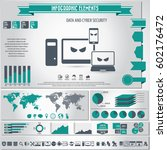 cyber security infographics... | Shutterstock .eps vector #602176472