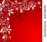 christmas frame with snowflakes ... | Shutterstock .eps vector #60218542