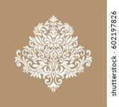 vintage baroque frame scroll...   Shutterstock .eps vector #602197826