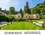 villa d'este  lake como | Shutterstock . vector #602200322