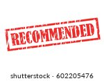 recommended vector stamp icon... | Shutterstock .eps vector #602205476